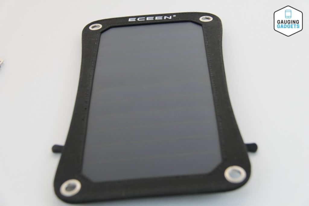 ECEEN Solar Power Bank, High efficiency 7 Watts Solar Panel & 2000mAh Battery Pack