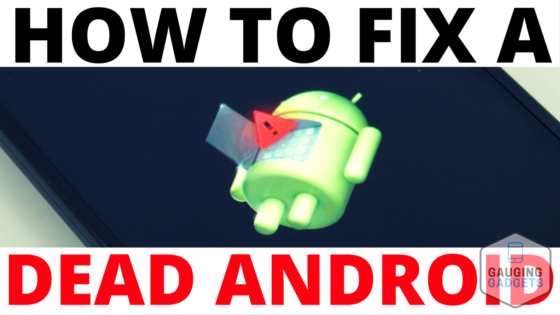 Dead Green Android Symbol with Red Triangle Exclamation Mark