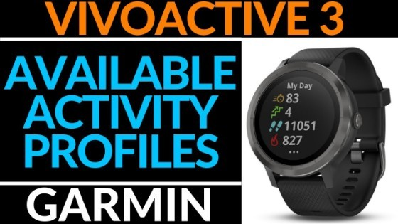 Garmin Vivoactive 2 Activiy Profiles