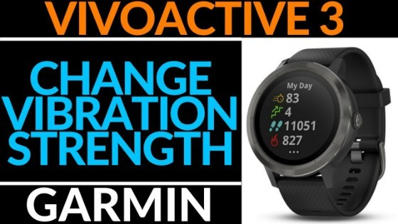 Garmin Vivoactive 3 How to Change Vibration