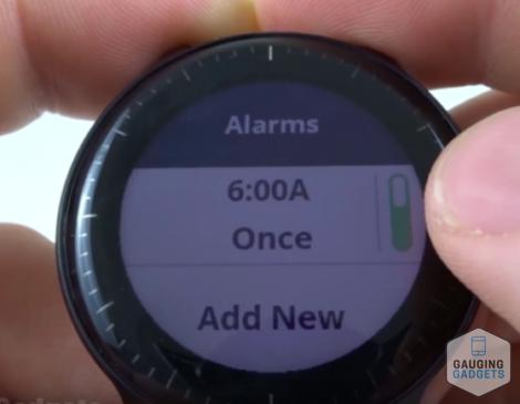 Garmin Vivoactive 3 How to Set Alarms 1