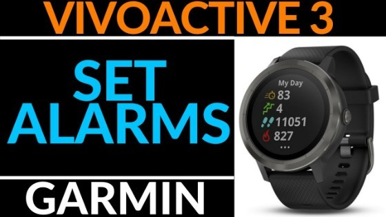 Garmin Vivoactive 3 How to Set an Alarm Tutorial