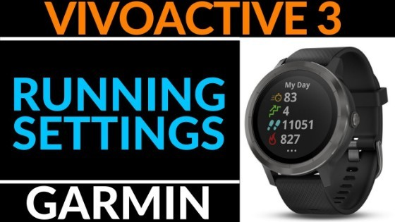 Garmin Vivoactive 3 Running Settings