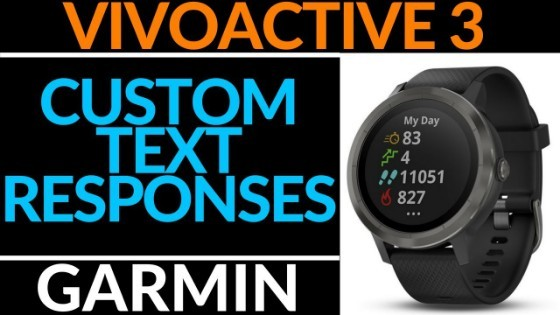 Garmin Vivoactive 3 Custom Text Responses