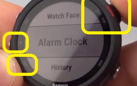Access Alarms Garmin Forerunner 245 Tutorial Alarm Clock.jpg