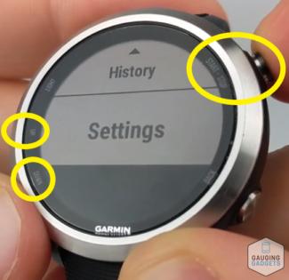 Add, Remove, Reorder a Widget Garmin Forerunner 645 Settings