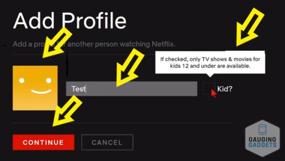 Add or Delete User Profile - Netflix Tutorial Computer Add