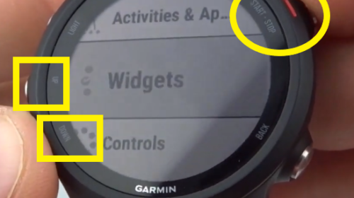 Add or Remove Widgets Garmin Forerunner 245 Widget menu.jpg