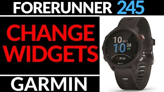 Add or Remove Widgets Garmin Forerunner 245