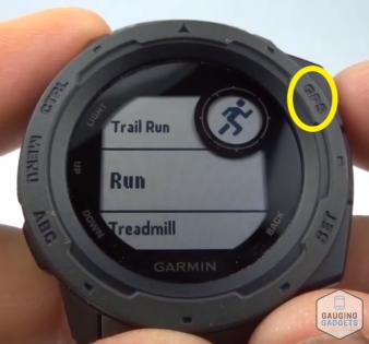 Custom Heart Rate Alerts Garmin Instinct Tutorial GPS Button