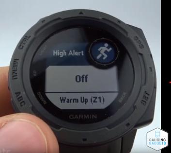 Custom Heart Rate Alerts Garmin Instinct Tutorial High Alert
