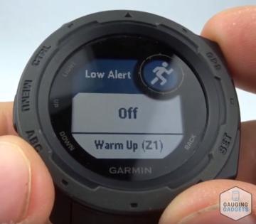 Custom Heart Rate Alerts Garmin Instinct Tutorial Low Alert