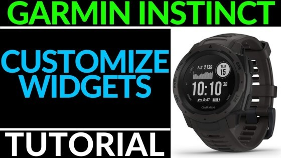 Customize the Widgets - Garmin Instinct Tutorial