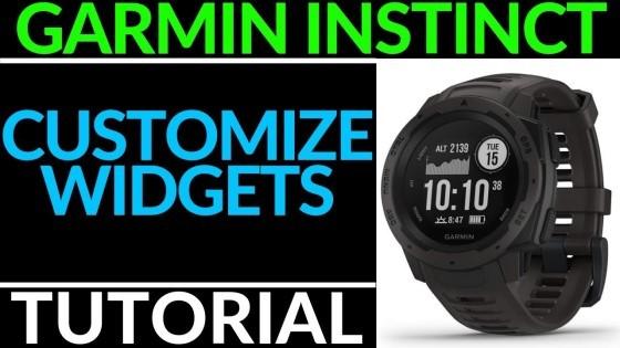 Customize the Widgets - Garmin Instinct Tutorial