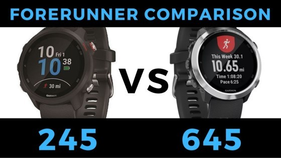 Forerunner 245 VS Forerunner 645 - Garmin Smartwatch Feature Comparison and Review