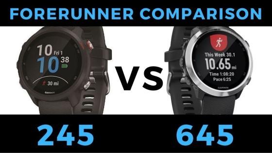 Forerunner 245 VS Forerunner 645 - Garmin Smartwatch Feature Comparison and Review