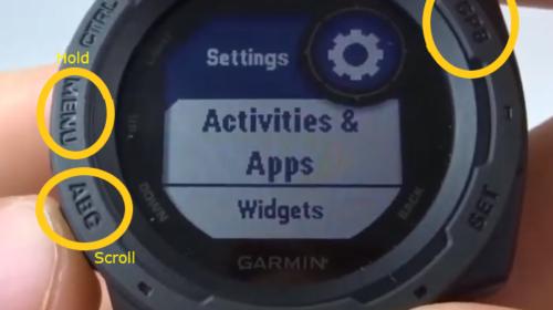 GPS Position Format Garmin Instinct Tutorial Settings Button.jpg