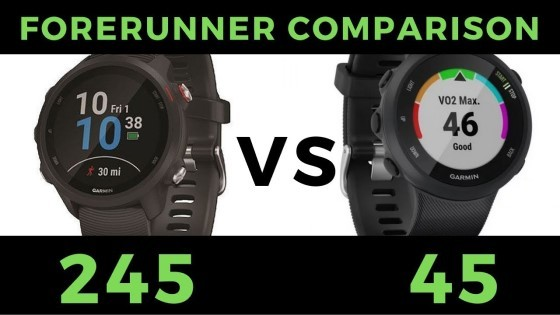 Garmin Forerunner 245 vs 645 comparison