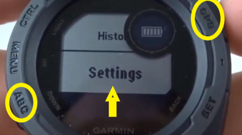 Garmin Instinct Calibrate the Compass Settings