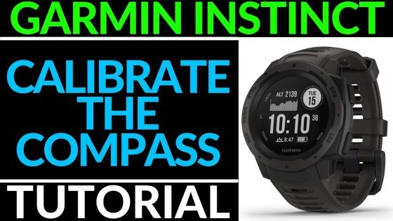 Garmin Instinct Calibrate the Compass