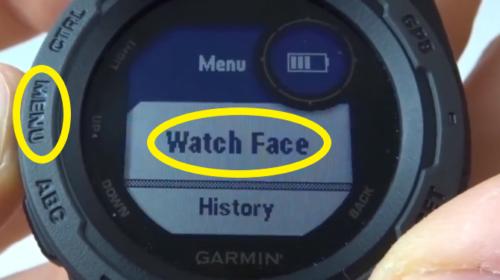 Garmin Instinct Custom Watch Face Tutorial Menu