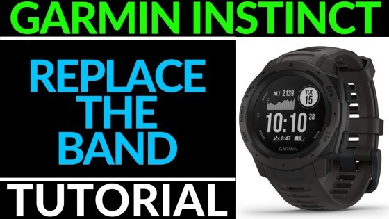 Garmin Instinct Replace the Band Tutorial