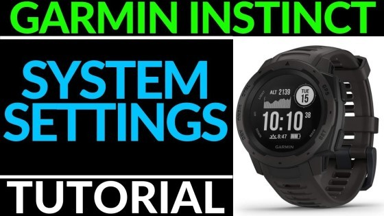 Garmin Instinct System Settings