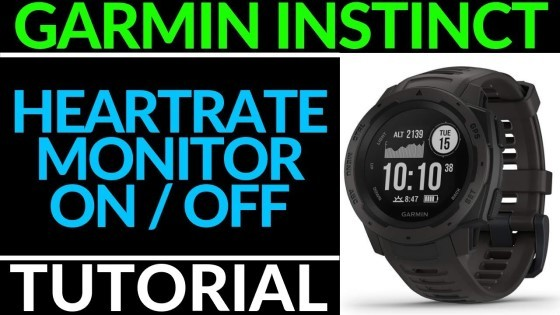Garmin Instinct Tutorial Heart Rate Monitor On Off