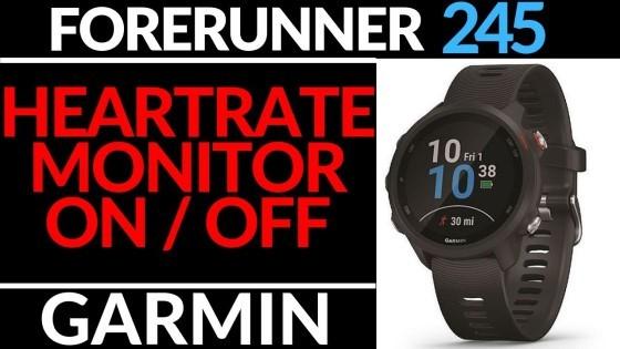 Heart Rate Monitior - On Off - Garmin Forerunner 245