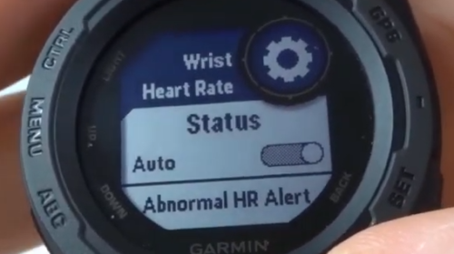 Heart Rate Monitor On Off Garmin Instinct Tutorial Wrist Heart Rate