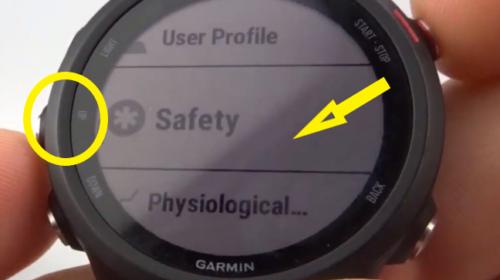 Incident Detection Up Button Garmin Forerunner 245 Tutorial