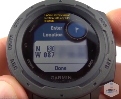 Navigation Setup and Overview Garmin Instinct Tutorial Custom Location.jpg