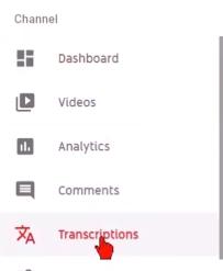 Add subtitles to a youtube video studio beta 2019 transcriptions