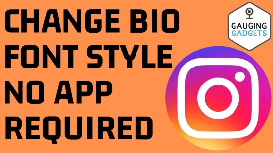 Change bio font style no app required
