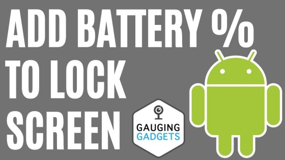 Add Battery Percentage to Android Lockscreen - Android 10 Tutorial