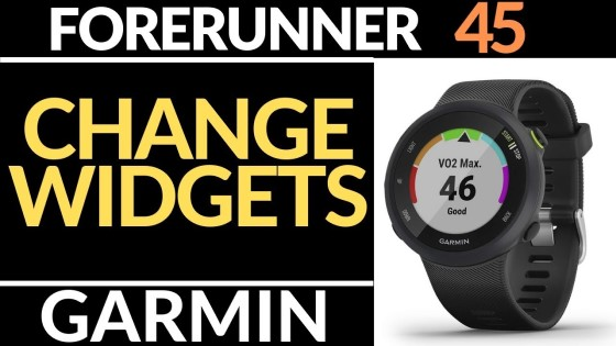 Add or remove widgets garmin forerunner 45 tutorial