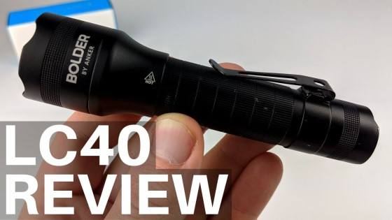 Anker Bolder LC40 Flashlight Review - Rechargeable Super Bright LED Torch