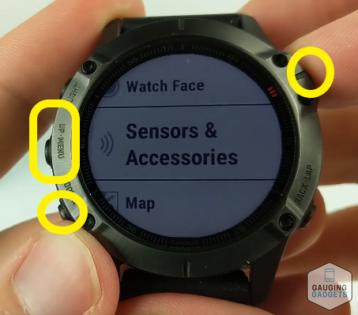 Callibrate the compass, altimeter, barometer Garmin Fenix 6 tutorial