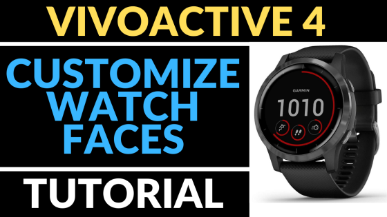 Garmin Vivoactive 4 Custom Watch Face tutorial FI