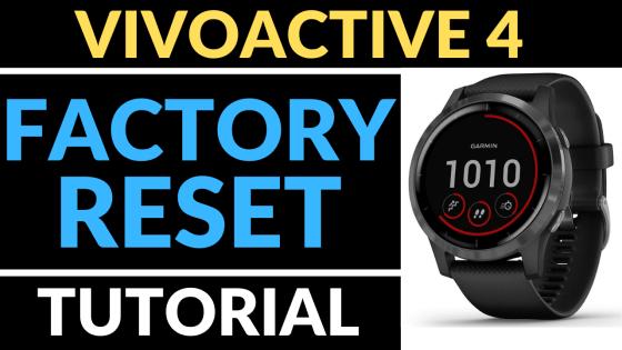 Garmin Vivoactive 4 Factory Reset Hard Reset Tutorial FI