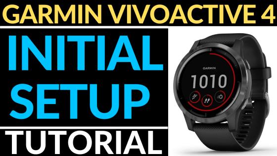 Garmin Vivoactive 4 Initial Setup Tutorial FI