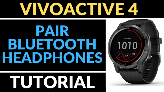 Garmin Vivoactive 4 how to pair Bluetooth headphones tutorial FI