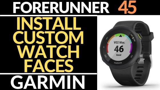 How to Install Watch Faces - Garmin Forerunner 45 Tutorial