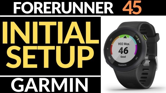 Initial Setup - Garmin Forerunner 45 Tutorial - Getting Started