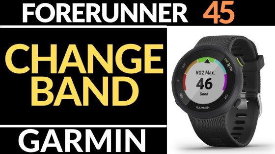how to change the watch band on your garmin forerunner 245 - tutorial