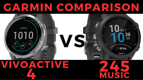 Garmin vivoactive 4 vs forerunner 245 music review