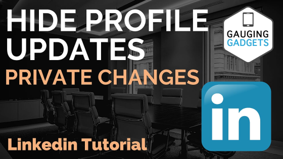 Prevent linkedin profile update change notifications