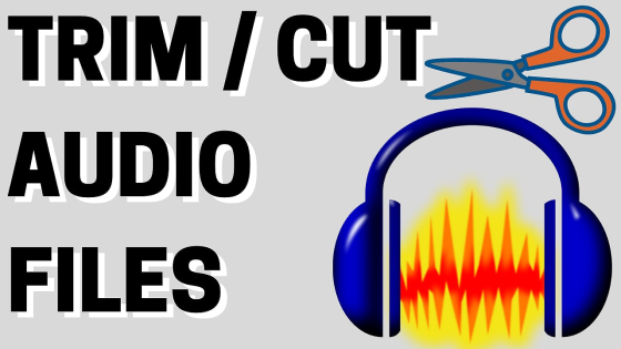 Trim Cut audio files audacity tutorial