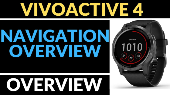 navigate navigation settings Garmin Vivoactive 4 Tutorial