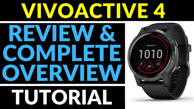 review and overview Garmin vivoactive 4 tutorial
